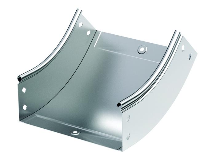 Curva canale metallico
