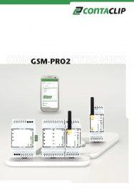 Catalogo modulo GSM-PRO da Conta-Clip