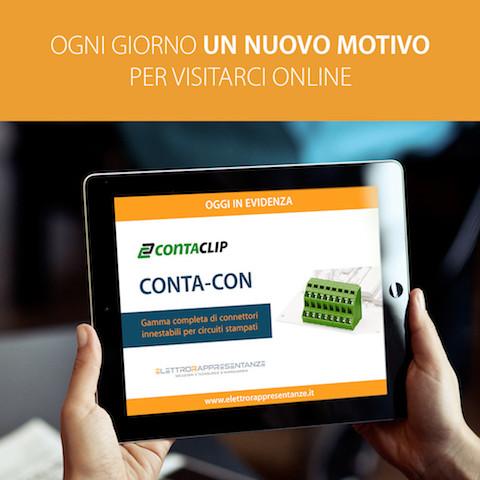 Contacon, connettori per circuiti stampati da Conta-clip banner mobile